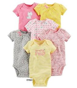 Simple Joys by Carters Baby-Girls 6-Pack Neutral Short-Sleeve Bodysuit