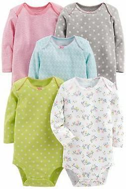 Simple Joys by Carters Baby-Girls 5-Pack Long-Sleeve Bodysuit