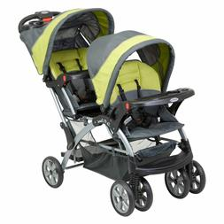 Sit And Stand Stroller Tandem Infant or Toddler Double Canop