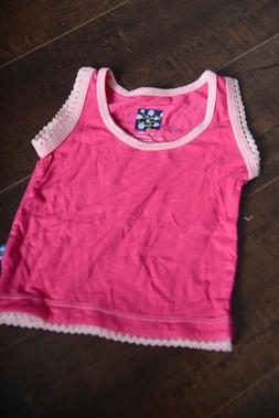 Kickee Pants sleeveless tank Top Bright Pink Undershirt infa