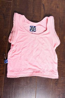 Kickee Pants sleeveless tank Top Light Pink Lotus Undershirt