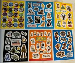 Small Sheet of Fun Stickers, 6 Sticker Theme Choices: Animal