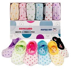 Toddler Girl Baby Socks Gift For 1-3 Year Old Girls, Anti Sl