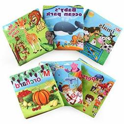 Soft Baby & Toddler Toys Cloth Books First Non-Toxic Fabric