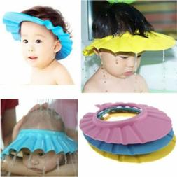 Soft Kids Shampoo Baby Shower Cap Wash Hair Shield Hat Bathi