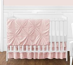 Solid Color Blush Pink Shabby Chic Harper Baby Girl Crib Bed