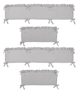 Solid Color Grey Shabby Chic Baby Crib Bumper Pad for Harper
