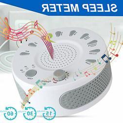 Sound Machine White Noise Generator Spa Easy Sleep Baby Rain