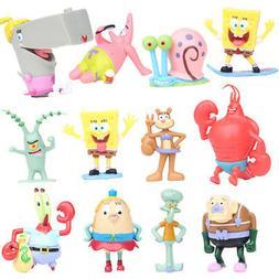 SpongeBob Squarepants +Sandy Action Figure Toy Playset XMAS