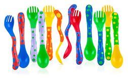 Spoons & Forks Toddler Training Utensils Colorful Kids Baby