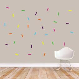 Sprinkles Printed Wall Decal Set - Kids, Baby, Nursery, Wall