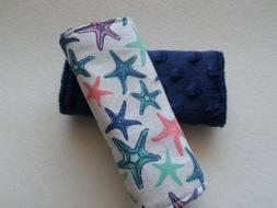 Starfish - Reversible Infant / Toddler Fabric Car Seat Strap