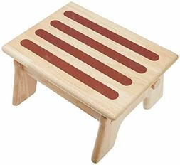 Step Stool Wooden Adjustable for Kitchen, Bathroom, Bedroom,
