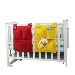 Storage Bag Nursery Toy Baby Cot Crib Organizer Foldable Dia