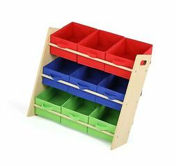 Stores Tot Tutors, Inc. WO824 Kids Toy Organizer with 9 Fabr