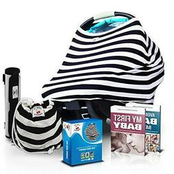 Stretchy Baby Car Seat Canopy Cover 3-in-1 Set | Unisex Desi