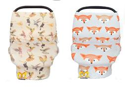Stretchy Car Seat Cover Canopy Unisex Multi Use Animal Print