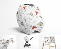 Stretchy Multi Use Car Seat Canopy, Nursing Breastfeeding Co