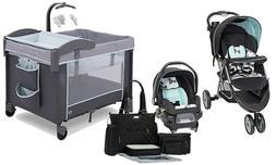 Stroller Baby Travel System with Car Seat Playard Newborn Di
