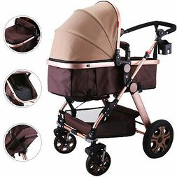 New  Baby Carriage Foldable Travel System Stroller Buggy Pus