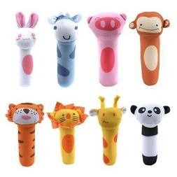 Baby Toy Cute Animal Pattern Cartoon Hand Bell Ring Rattles