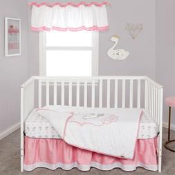 Trend Lab Swans 3 Piece Baby Nursery Crib Bedding Set NEW