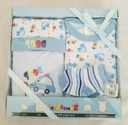 Sweet & Soft 0 - 6 Month Old Multicolor 4-PC Baby Gift Set