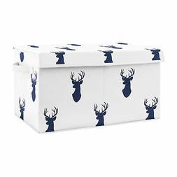 Sweet Jojo Navy Blue Woodland Deer Boy Nursery Fabric Toy Bi