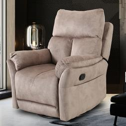 Swivel Rocker Recliner Chair Baby Relax Glider Overstuffed B