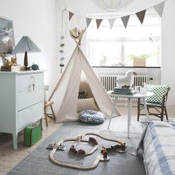 Teepee Play Tent Cubby House for Toddlers Children Natural L