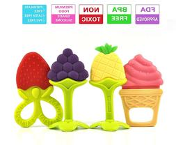 Olele Baby Teething Toys - Soft Sensory BPA Free Natural Sil