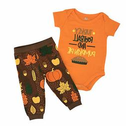 Thanksgiving Baby Boy Newborn Infant Layette Outfit Set Foot