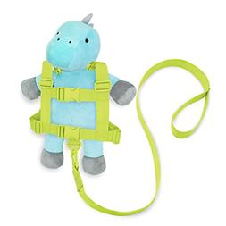 Travel Bug Toddler 2-in-1 Safety Harness, Dinosaur- Teal/Gre