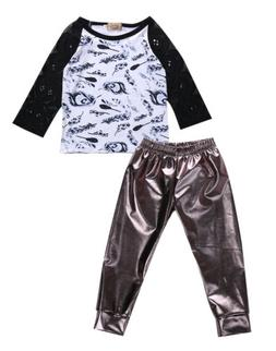 Toddler Baby Boys Girls Fashion T shirt Leggings Pants Cloth