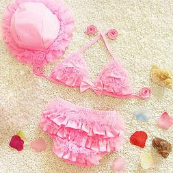 Toddler Baby Girl Ruffle Bikini Swimwear Bathing Suit Beachw