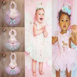 Toddler Baby Girls Princess Girls Romper Dresses Outfits Par