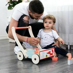 Toddler Baby Wood Push Learning Walker Activity Toys Kids De