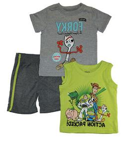 Toy Story 4 Toddler Boys Action Packed 3pc Short Set Size 2T