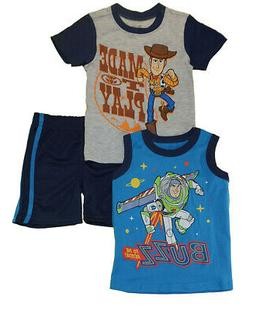 Toy Story 4 Toddler Boys Made To Play 3pc Short Set Size 2T