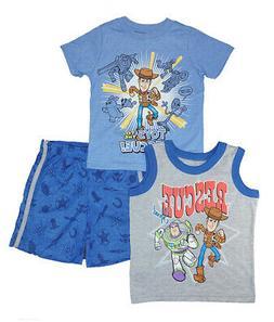 Toy Story 4 Toddler Boys Rescue Squad 3pc Short Set Size 2T