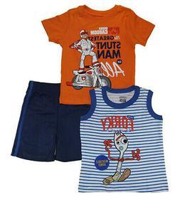 Toy Story 4 Toddler Boys Stunt Man 3pc Short Set Size 2T 3T