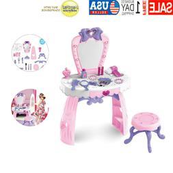 Toddler Fashion Fantasy Vanity Beauty Dresser Table Makeup A