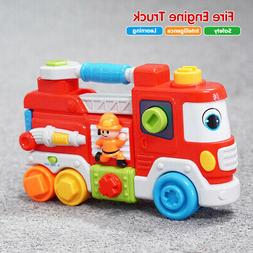 Toddler Fire Engine Truck Toy Learning Sound Educational Dev