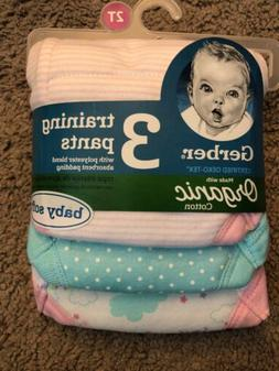 Toddler girl clothes, 2T Gerber Organic 3 Training Pants,Cer