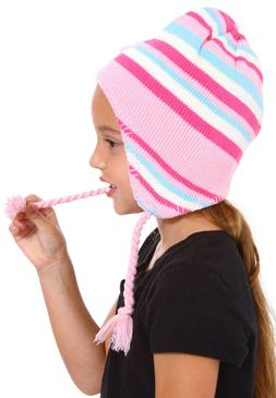 Toddler Girls Boys Baby Kids Stripe Beanie Winter Warm Hat K