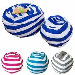 Toddler Kid Stuffed Animal Toy Bean Bag Storage Pouch Soft S