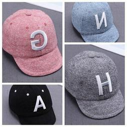 Toddler Kids Baby Boys Girls Baseball Cap Embroidery Cotton