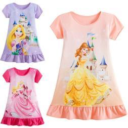 Toddler Kids Baby Girls Rapunzel Belle Aurora Princess Print