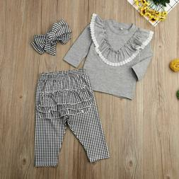Toddler Kids Baby Girls Top Sweatshirt + Pants Trousers Set