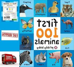 Toddler Learning Book First 100 Animals Board Child Toy Earl